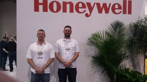 staff at honeywell sign